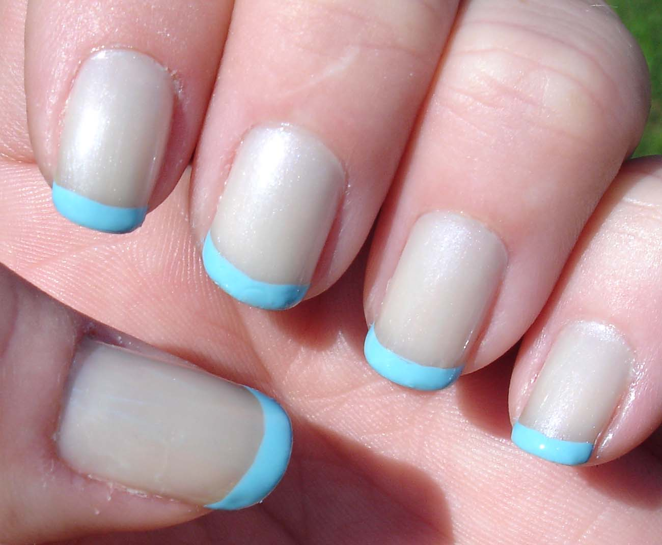 aveon sheer french Light Blue French Manicure