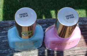 french tip polish tops